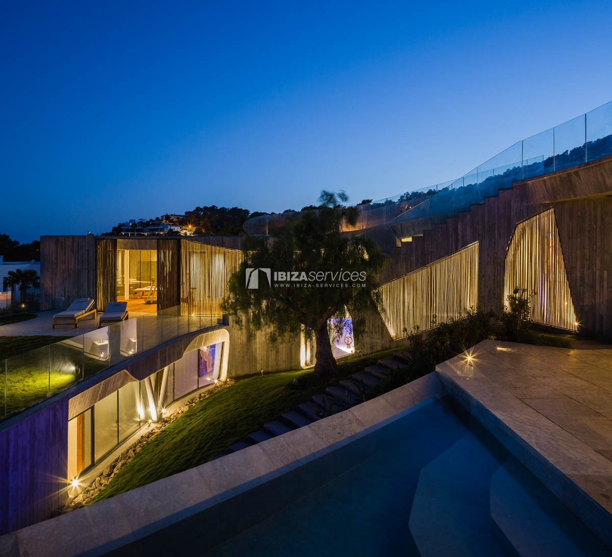 Amazing  design villa Es cubells for rent perspectiva 53