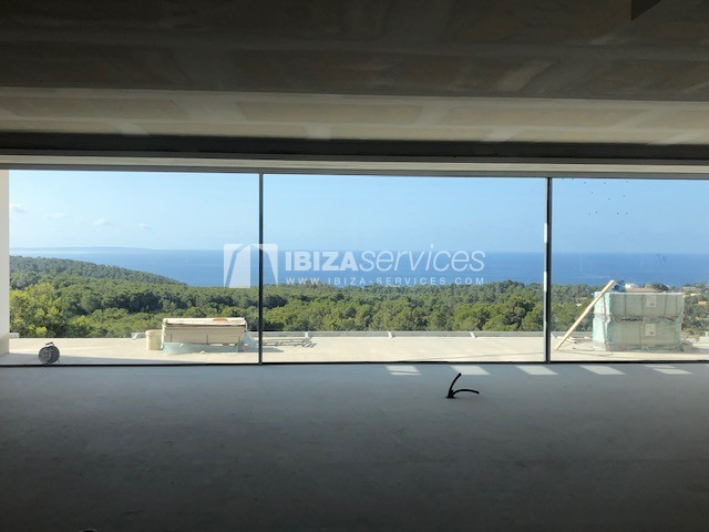 Modern house in construction for sale Es Cubells perspectiva 1