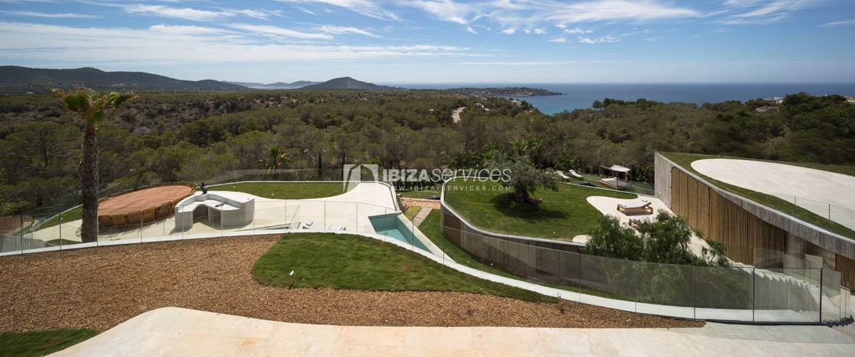 Amazing  design villa Es cubells for rent perspectiva 61