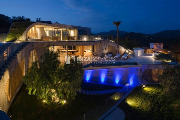 Amazing design villa Es cubells for rent