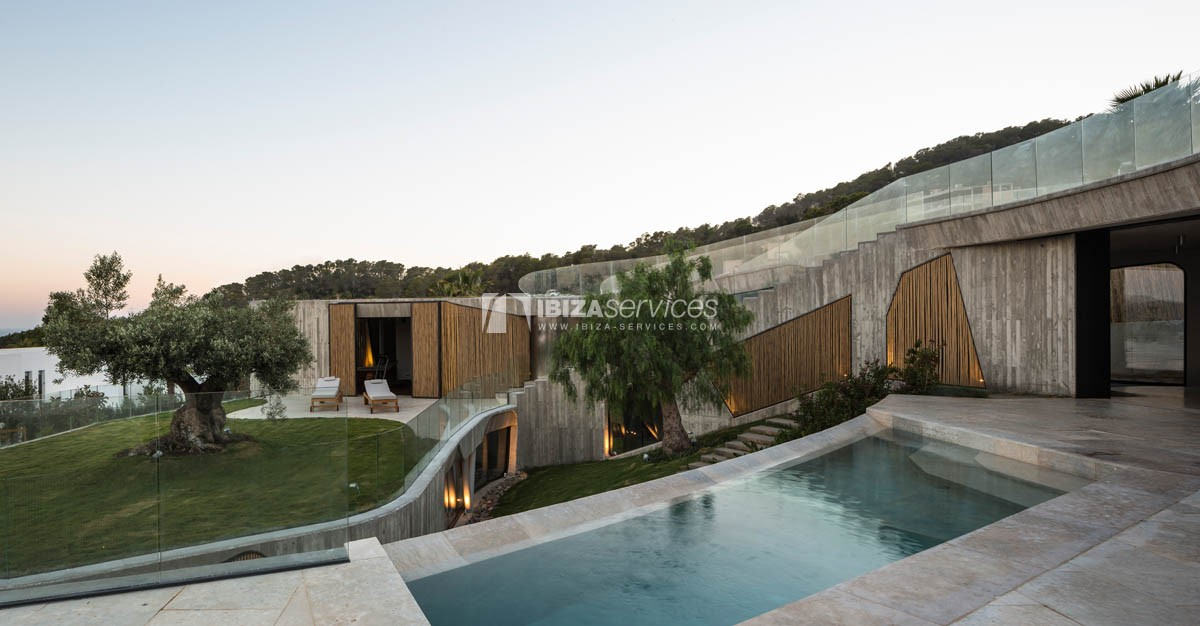 Amazing  design villa Es cubells for rent perspectiva 71