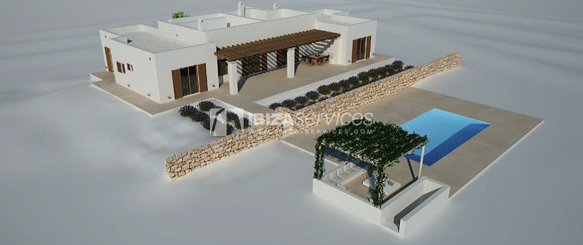 Plot with project behind Bambuddha for sale perspectiva 2