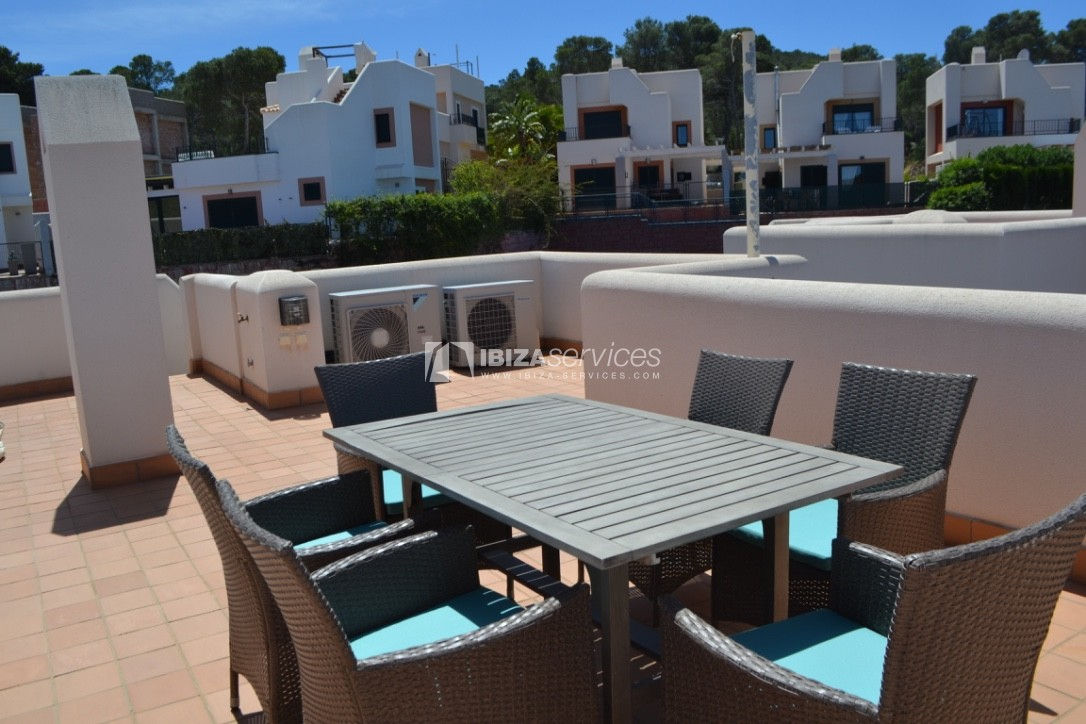 Townhouse Cala Tarida 3 bedrooms with sea views perspectiva 7