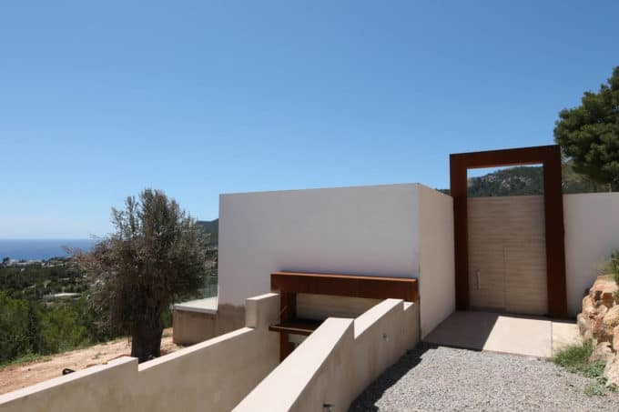 Brand new modern exclusive property for sale in Es Cubells splendid view