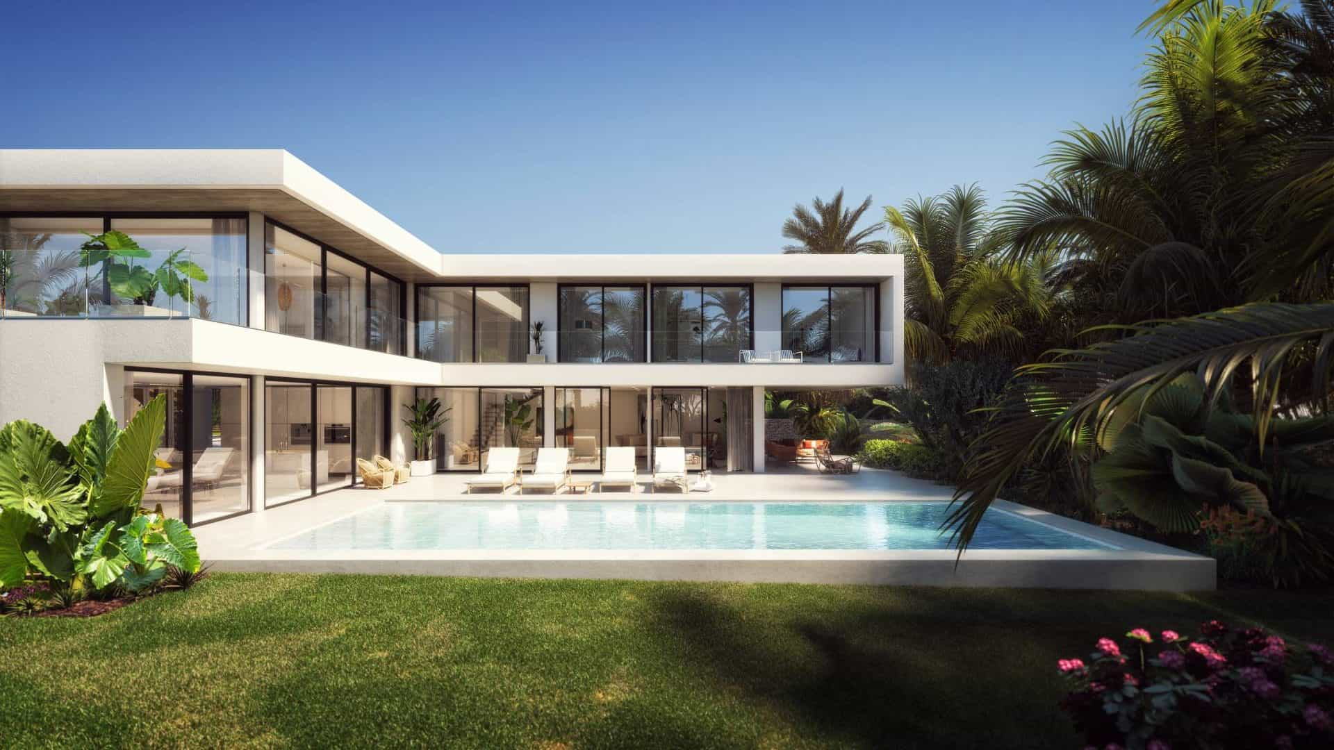 Plot Talamanca with modern luxury villa project