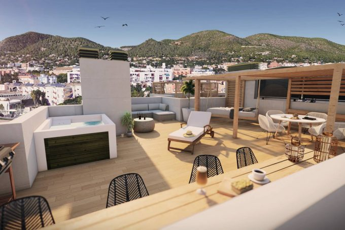 Annual and seasonal rental 4 bedroom apartments Es Vive Ibiza