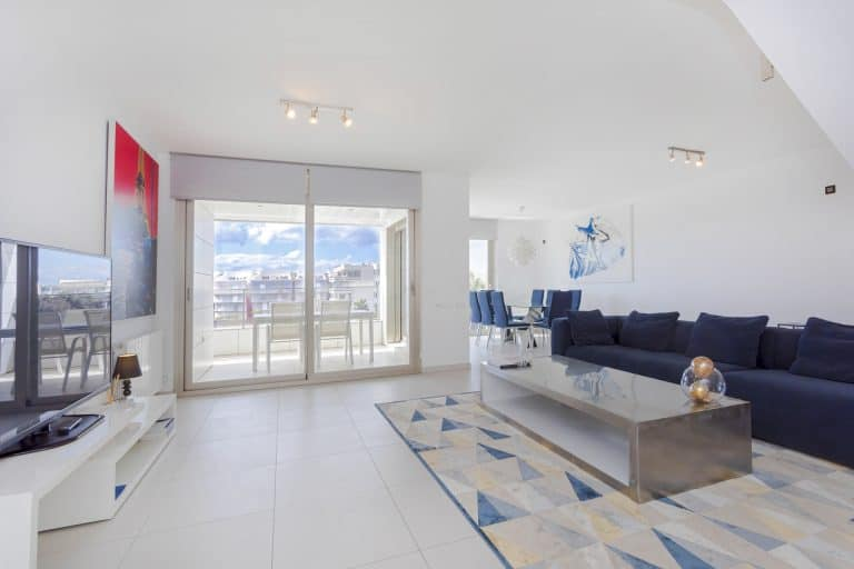 Long term rental 4 bedroom penthouse Ibiza Botafoch