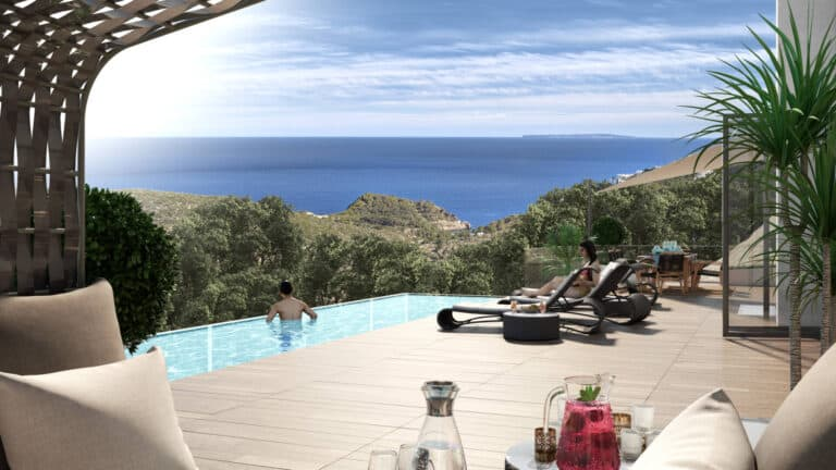 Plot for sale with project for modern villa in Roca Llisa