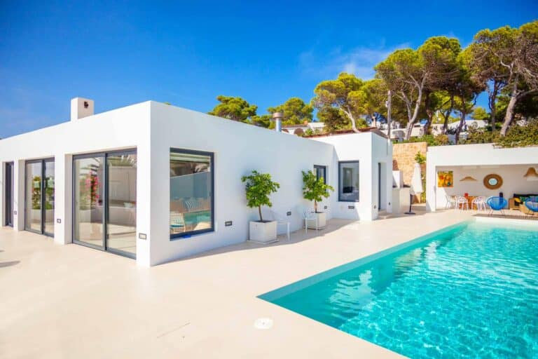 New villa with frontal sea views overlooking Es Vedra Rocks