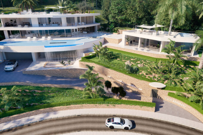 A spectacular mansion with sea views in prime location