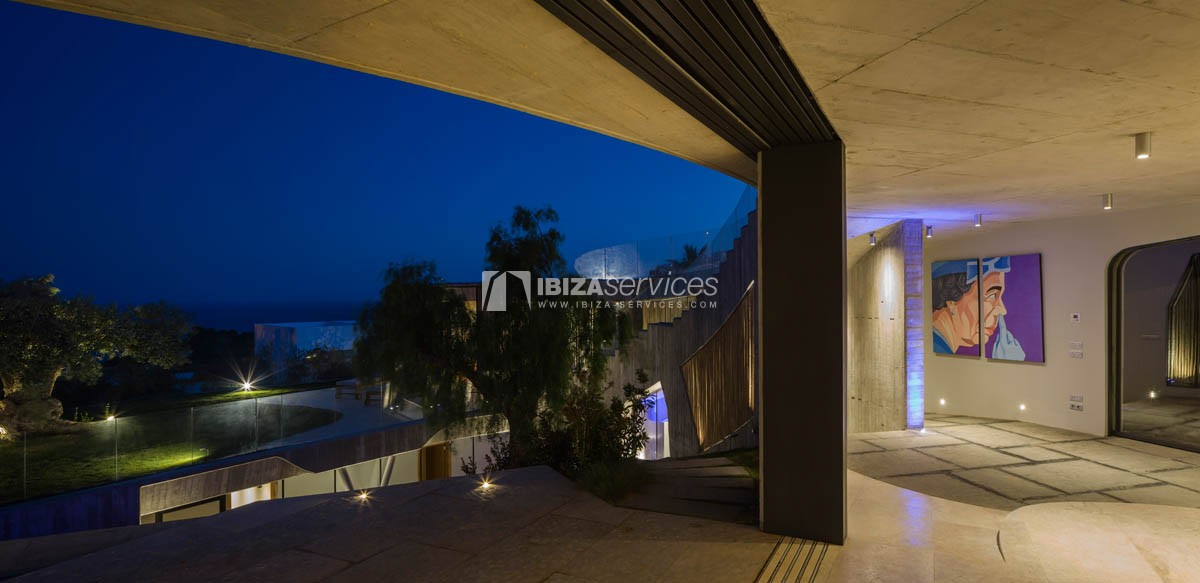 Amazing  design villa Es cubells for rent perspectiva 7