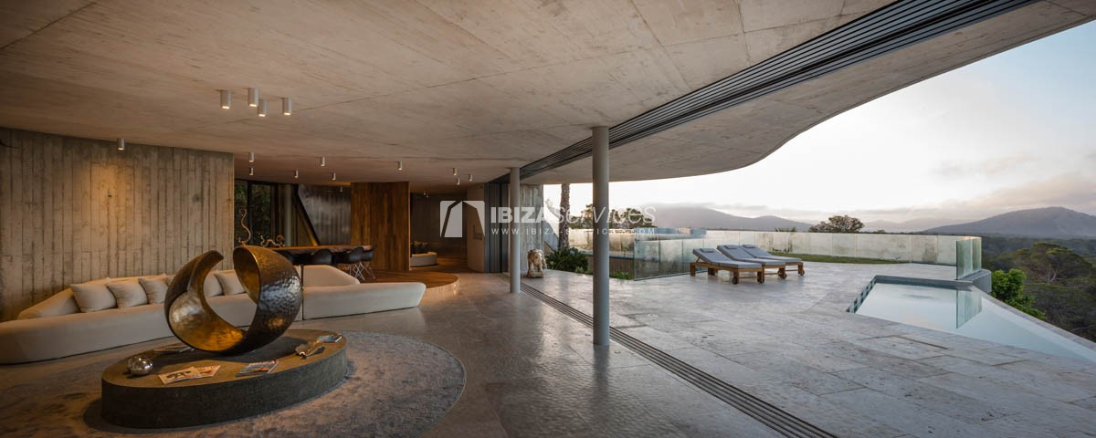 Amazing  design villa Es cubells for rent perspectiva 10