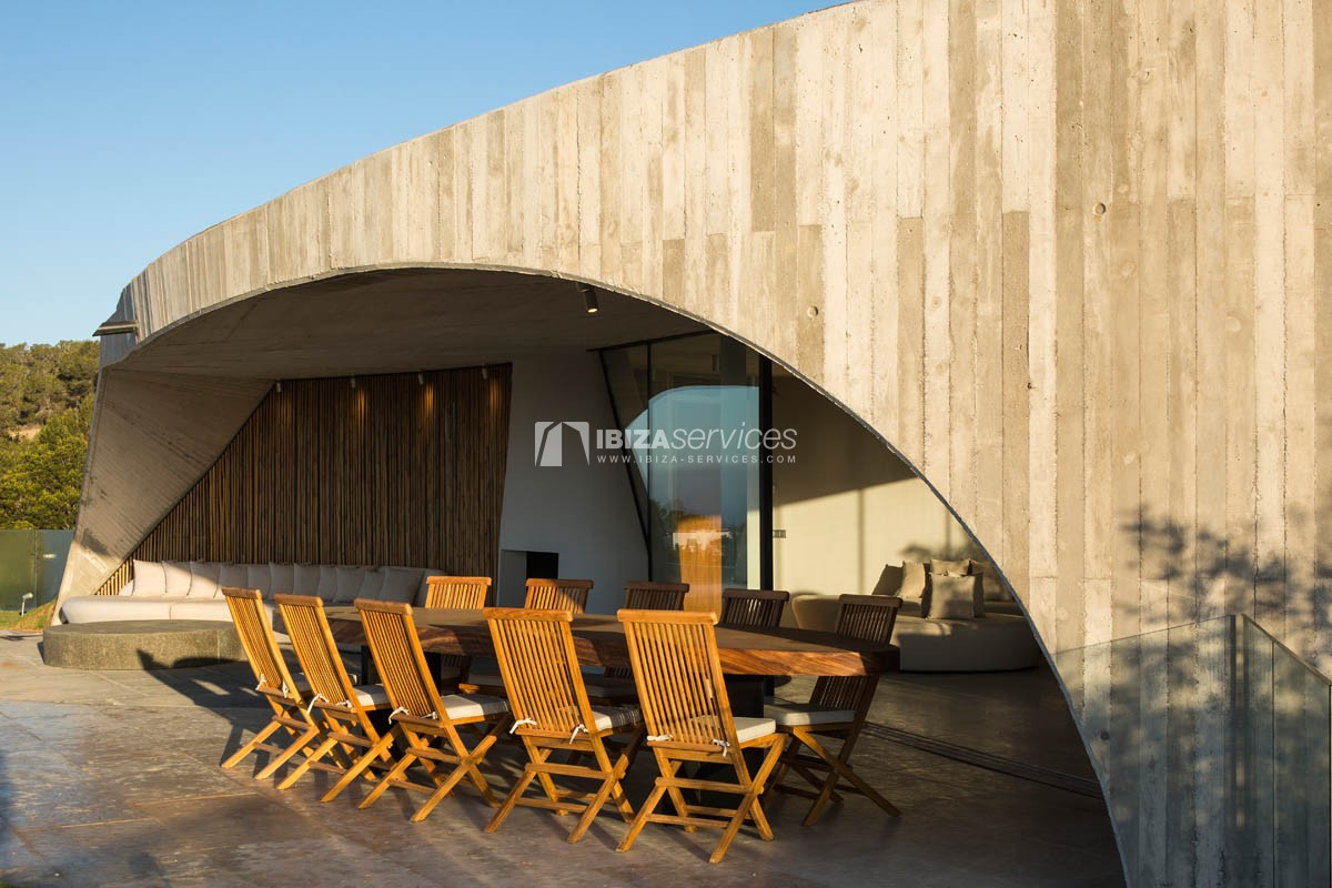 Amazing  design villa Es cubells for rent perspectiva 16