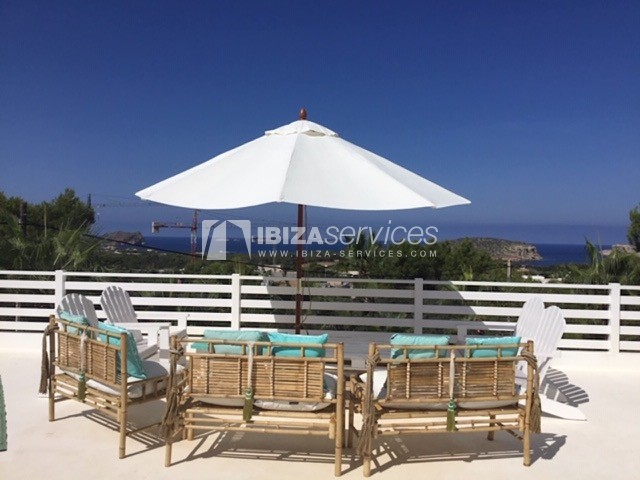 Rent modern villa Sea view Cala Conta perspectiva 1