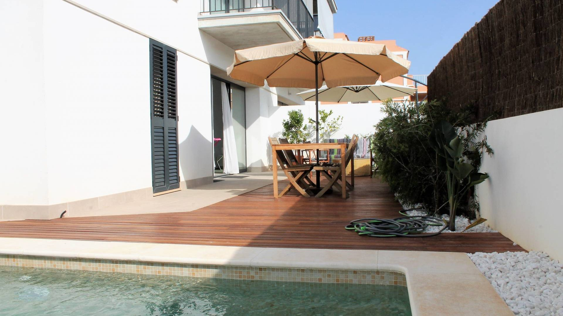 Long term rental Jesus 3 bedroom apartment with private pool