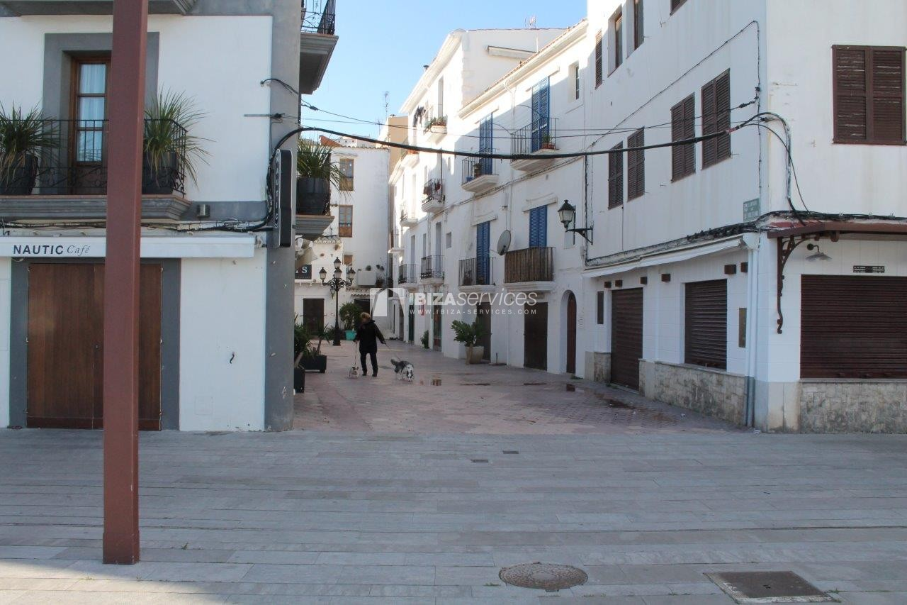 4 level building for sale La Marina Ibiza.