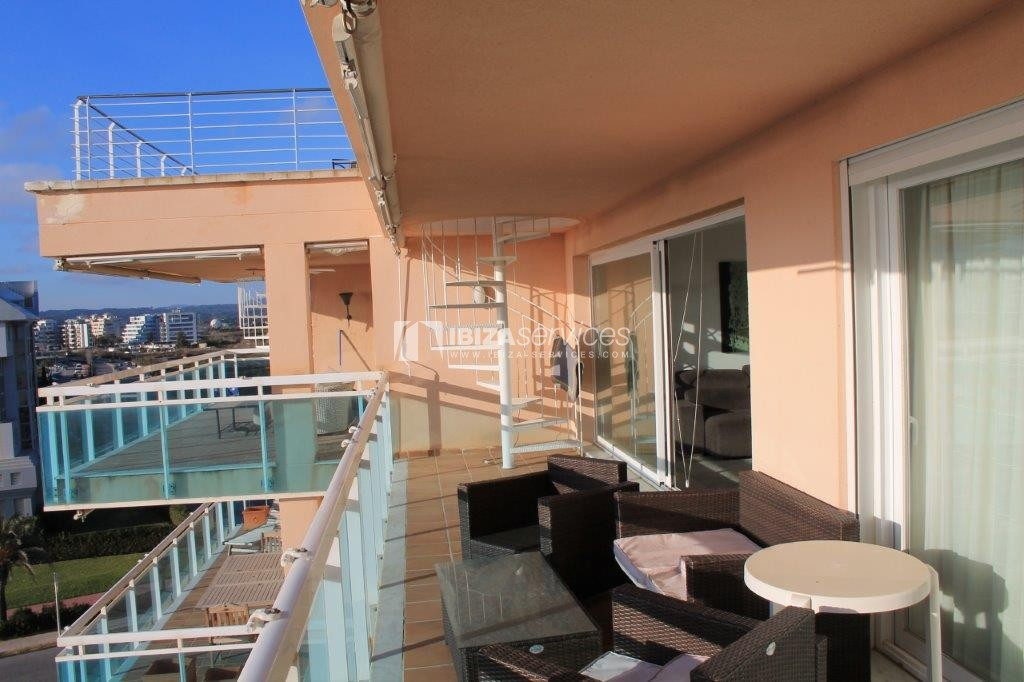 yearly rental penthouse apartment 4 bedrooms paseo maritimo Ibiza perspectiva 3