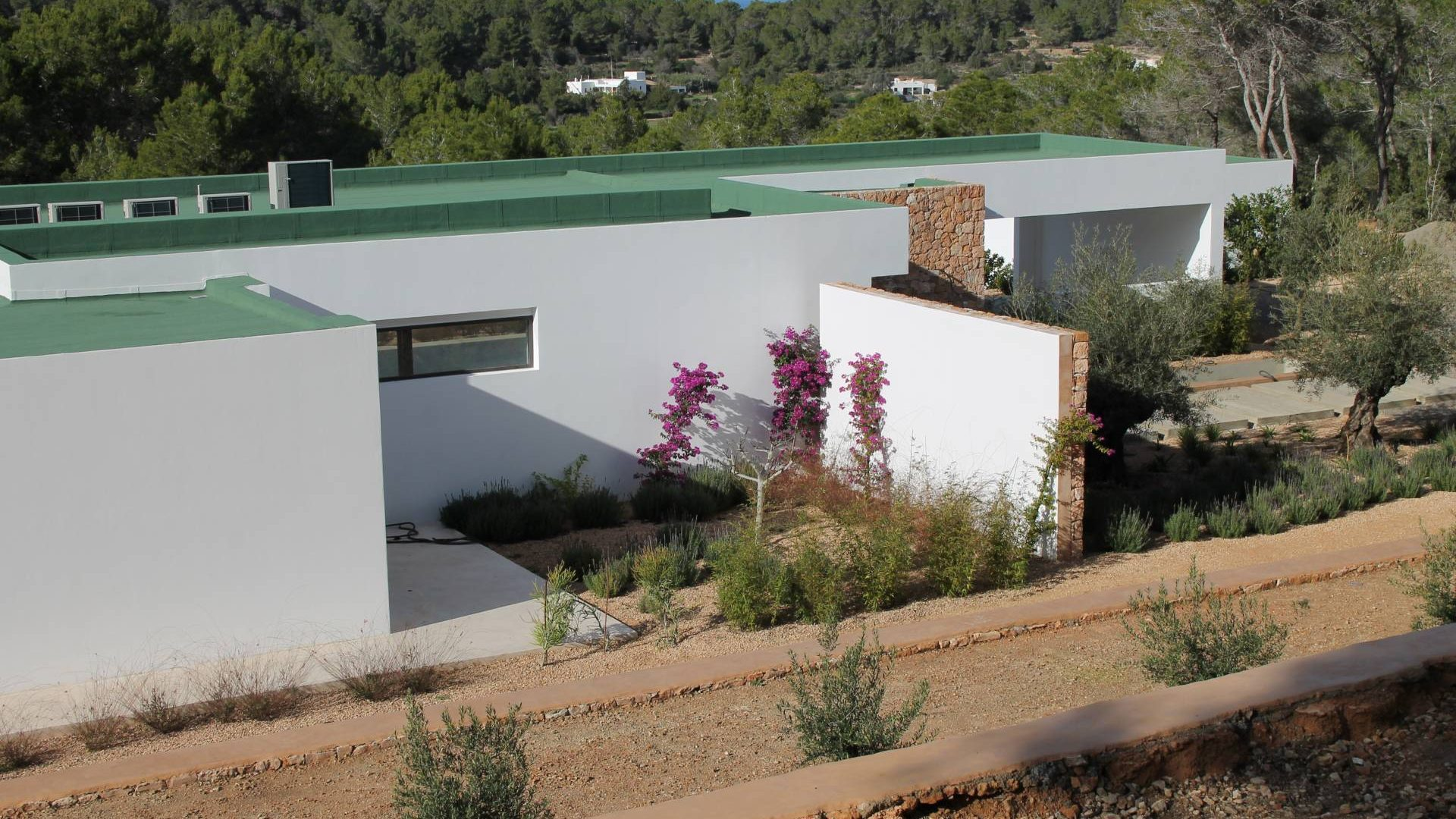 Buy brand new 5 bedroom modern villa in San Agustin Ibiza.