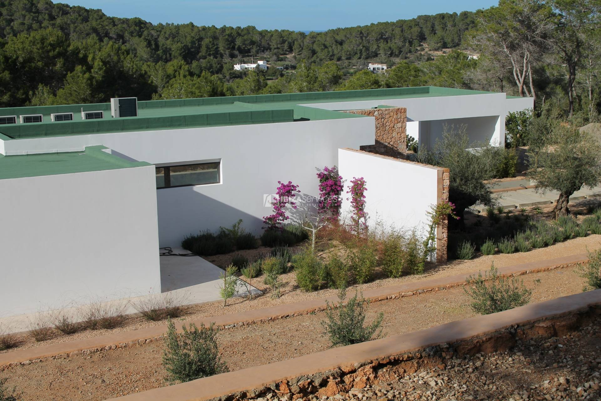 Buy brand new 5 bedroom modern villa in San Agustin Ibiza. perspectiva 1