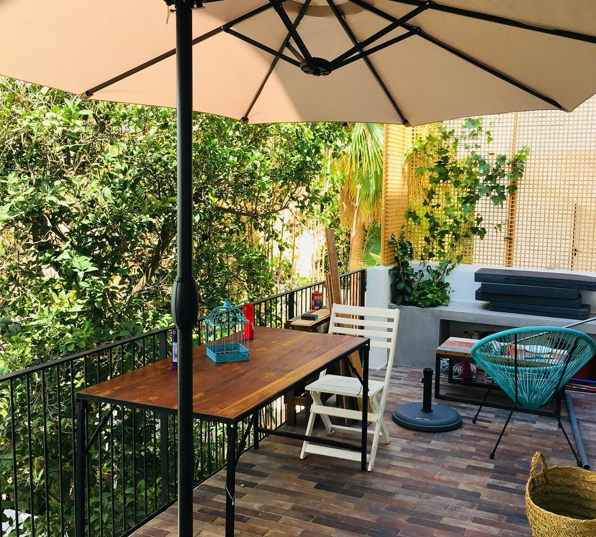 Ibiza  downtown cosy apartment interior patio for sale
