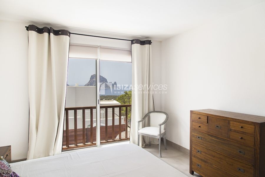 Seasonal rent semi-detached house view to Es Vedra perspectiva 11