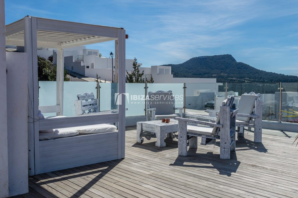Seasonal rent semi-detached house view to Es Vedra perspectiva 1