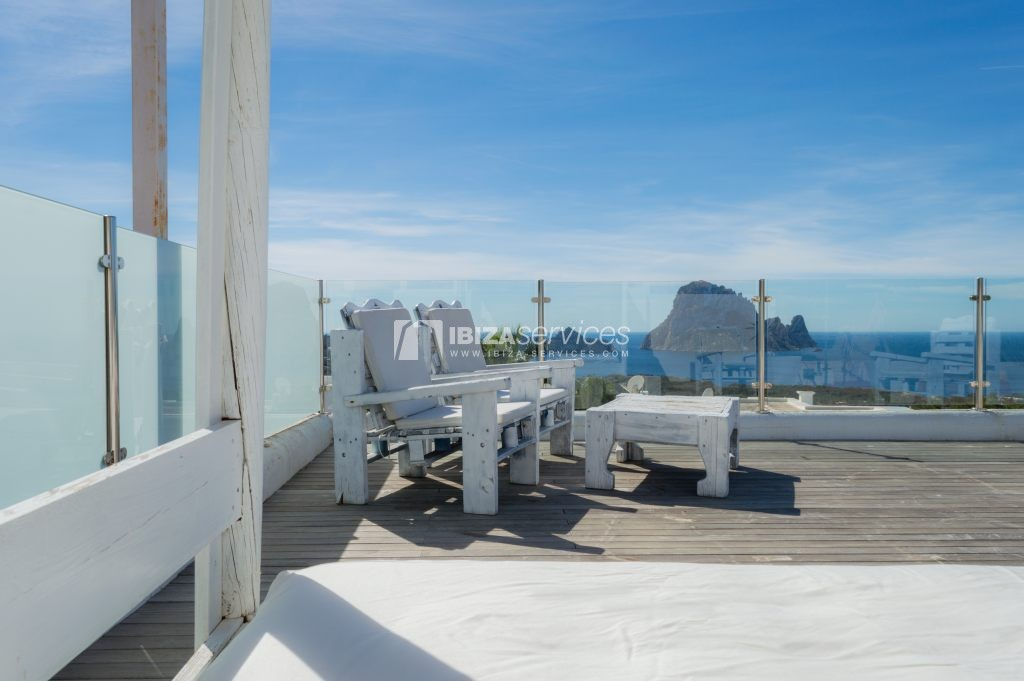 Seasonal rent semi-detached house view to Es Vedra perspectiva 2