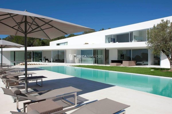 Cala Salada amazing modern minimal villa for rent