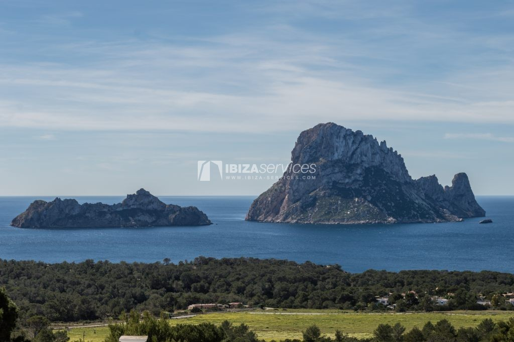 Seasonal rent semi-detached house view to Es Vedra perspectiva 3